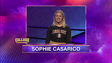 [Jeopardy! 2020 College Championship - Sophie Casarico]