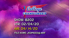 [Jeopardy! 2020 College Championship - Title Slate]