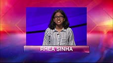 [Jeopardy! 2018 Teen Tournament - Rhea Sinha]