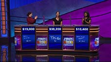 [Jeopardy! 2018 Teen Tournament - Image of the day two final results]