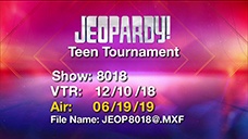 [Jeopardy! 2019 Teen Tournament - Title Slate]